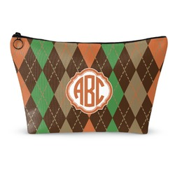 Brown Argyle Makeup Bags (Personalized)