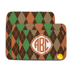 Brown Argyle Memory Foam Bath Mat (Personalized)