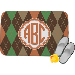 Brown Argyle Memory Foam Bath Mat (Personalized)