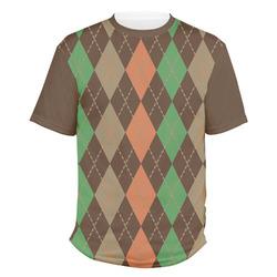 Brown Argyle Men's Crew T-Shirt (Personalized)