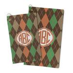 Brown Argyle Microfiber Golf Towel (Personalized)