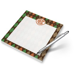 Brown Argyle Notepad (Personalized)