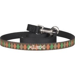 Brown Argyle Pet / Dog Leash (Personalized)