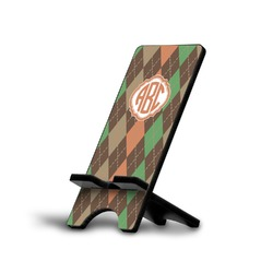 Brown Argyle Phone Stand (Personalized)