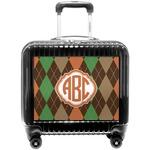 Brown Argyle Pilot / Flight Suitcase (Personalized)
