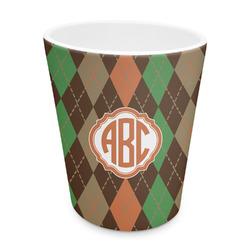 Brown Argyle Plastic Tumbler 6oz (Personalized)