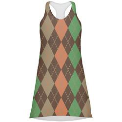 Brown Argyle Racerback Dress (Personalized)