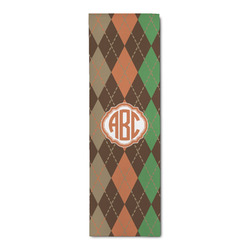 Brown Argyle Runner Rug - 3.66'x8' (Personalized)