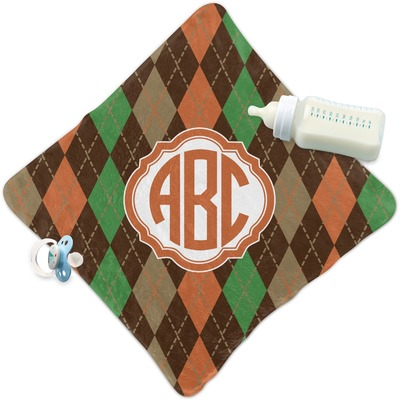 Brown Argyle Security Blanket (Personalized)