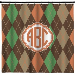 Brown Argyle Shower Curtain (Personalized)