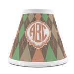 Brown Argyle Chandelier Lamp Shade (Personalized)