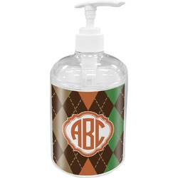 Brown Argyle Soap / Lotion Dispenser (Personalized)