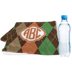 Brown Argyle Sports Towel (Personalized)