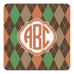 Brown Argyle Square Decal (Personalized)