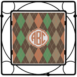 Brown Argyle Trivet (Personalized)