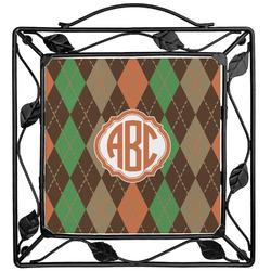 Brown Argyle Trivet (Personalized)