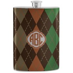 Brown Argyle Stainless Steel Flask (Personalized)