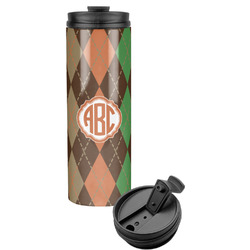 Brown Argyle Stainless Steel Tumbler (Personalized)