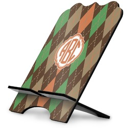 Brown Argyle Stylized Tablet Stand (Personalized)