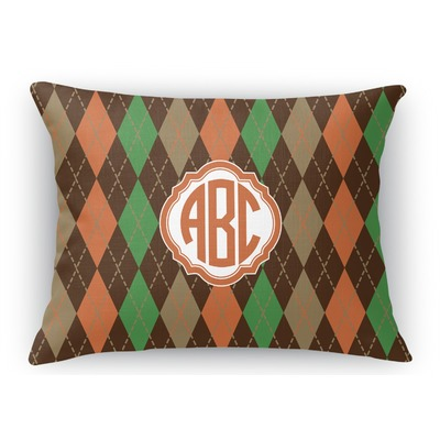Brown Rectangular Throw Pillow : Brown Argyle Rectangular Throw Pillow (Personalized) - YouCustomizeIt