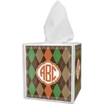 Brown Argyle Tissue Box Cover (Personalized)