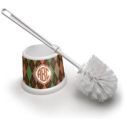 Brown Argyle Toilet Brush (Personalized)