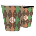 Brown Argyle Waste Basket (Personalized)