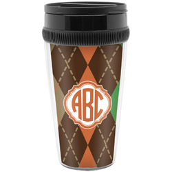 Brown Argyle Travel Mugs (Personalized)