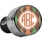 Brown Argyle USB Car Charger (Personalized)