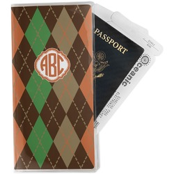 Brown Argyle Travel Document Holder