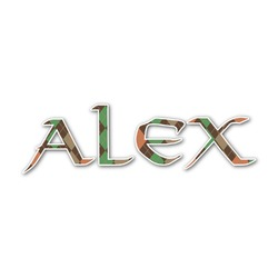 Brown Argyle Name/Text Decal - Custom Sized (Personalized)
