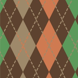 Brown Argyle Wallpaper & Surface Covering