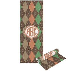 Brown Argyle Yoga Mat - Printable Front and Back (Personalized)