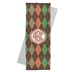 Brown Argyle Yoga Mat Towel (Personalized)