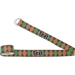 Brown Argyle Yoga Strap (Personalized)