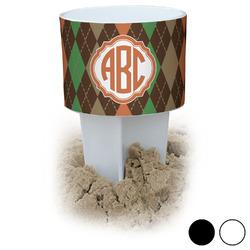Brown Argyle Beach Spiker Drink Holder (Personalized)