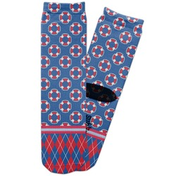 Buoy & Argyle Print Adult Crew Socks (Personalized)