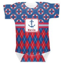 Buoy & Argyle Print Baby Bodysuit (Personalized)