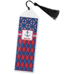 Buoy & Argyle Print Book Mark w/Tassel (Personalized)