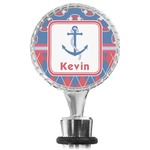 Buoy & Argyle Print Wine Bottle Stopper (Personalized)