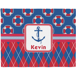 Buoy & Argyle Print Placemat (Fabric) (Personalized)