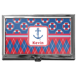 Buoy & Argyle Print Business Card Holder