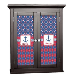 Buoy & Argyle Print Cabinet Decal - Custom Size (Personalized)
