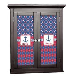 Buoy & Argyle Print Cabinet Decal - Custom Size (Personalized)