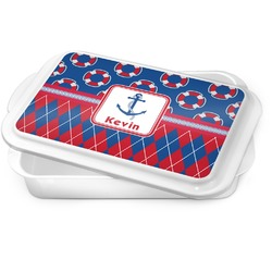 Buoy & Argyle Print Cake Pan (Personalized)