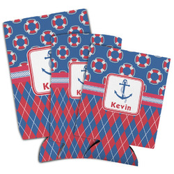 Buoy & Argyle Print Can Cooler (Personalized)