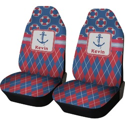 Buoy & Argyle Print Car Seat Covers (Set of Two) (Personalized)