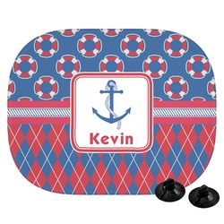 Buoy & Argyle Print Car Side Window Sun Shade (Personalized)