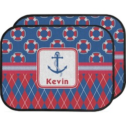 Buoy & Argyle Print Car Floor Mats (Back Seat) (Personalized)