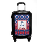Buoy & Argyle Print Carry On Hard Shell Suitcase (Personalized)